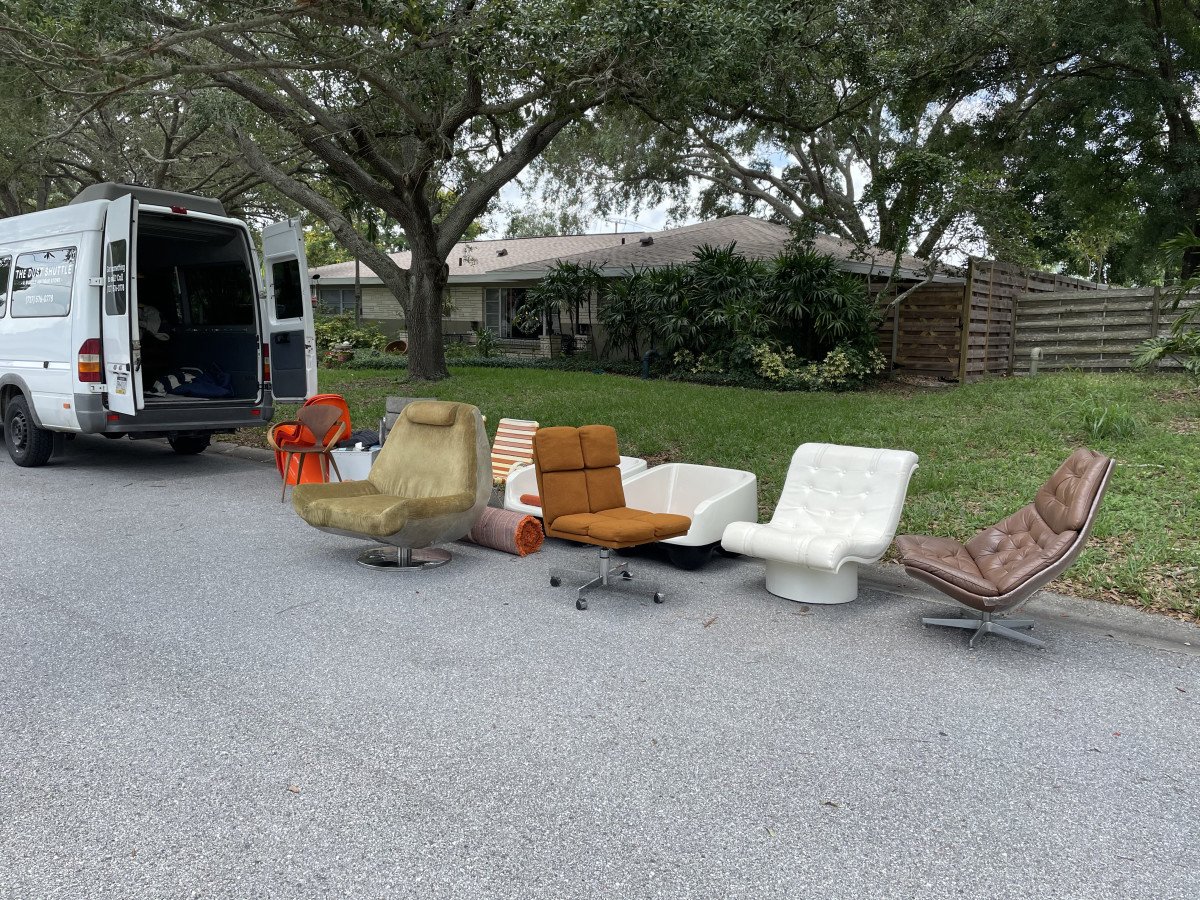 Part of a mother lode of mid-century furniture the duo found in Florida.