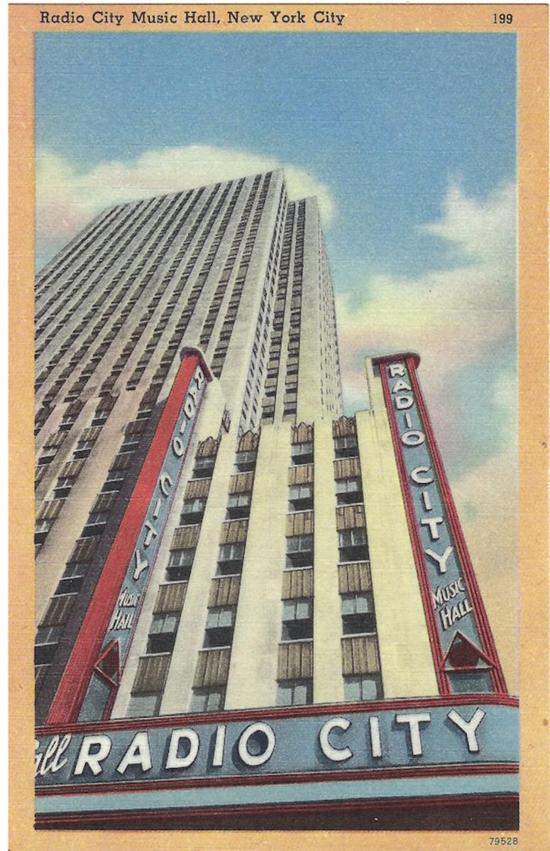 Radio City Music Hall postcard