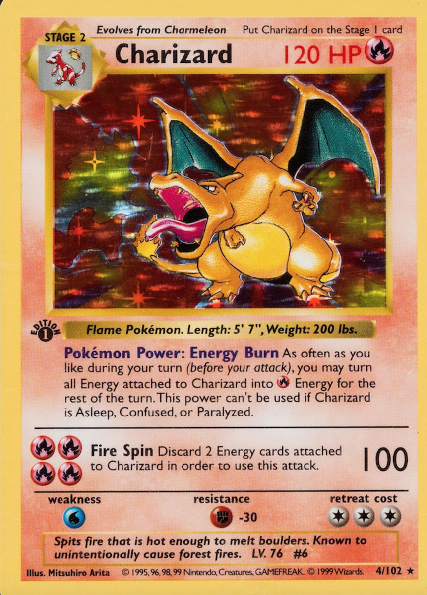 Charizard Hologram card 1999