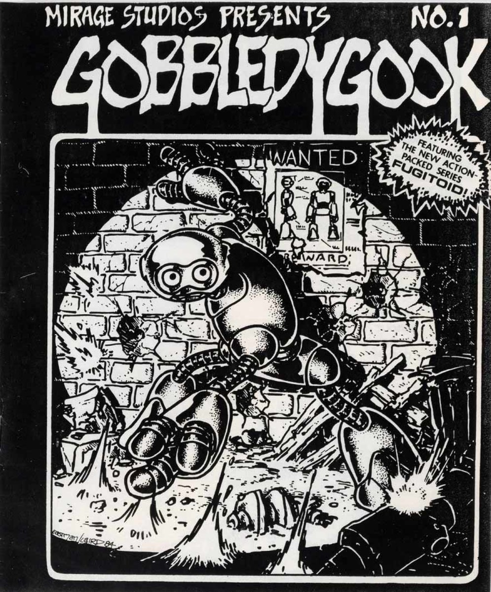 CGC-graded 9.0 copy of Gobbledygook #1, with a back cover ad for the Teenage Mutant Ninja Turtles' debut issue, argued as the Turtles' first true appearance. It generated much interest with bidders and its record-breaking price  of $71,390 far surpassed two previous sales of $26,400 and $12,000 earlier this year.